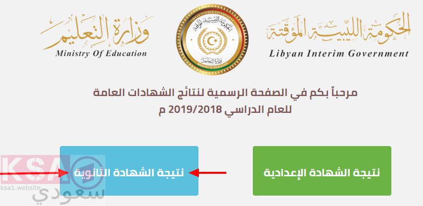 رابط نتيجة الشهادة الثانوية ليبيا 2019